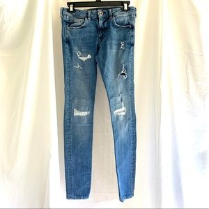 H&M Denim distressed skinny jeans Size 28